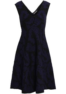 Zac Posen Woman Floral-jacquard Dress Navy