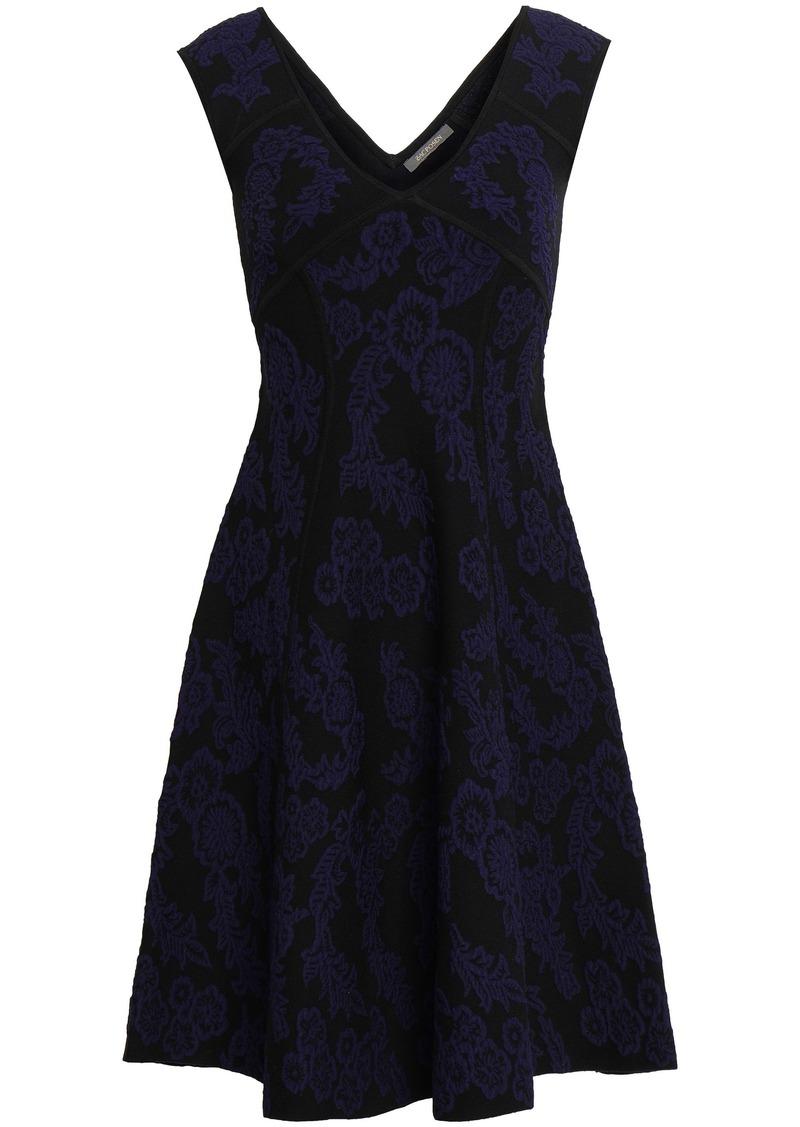Zac Posen Woman Floral-jacquard Dress Navy