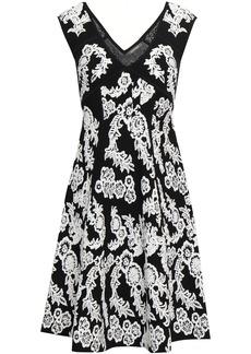 Zac Posen Woman Floral-jacquard Dress White