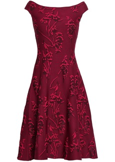 Zac Posen Woman Floral-jacquard Dress Plum