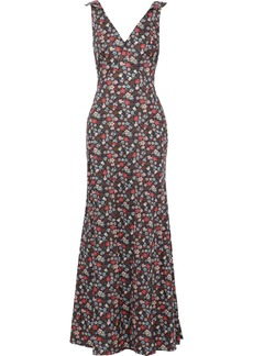 Zac Posen Woman Fluted Floral-print Cotton-poplin Gown Multicolor