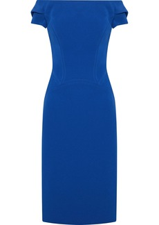 Zac Posen Woman Off-the-shoulder Cutout Crepe Dress Blue