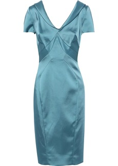 Zac Posen Woman Satin Dress Sky Blue