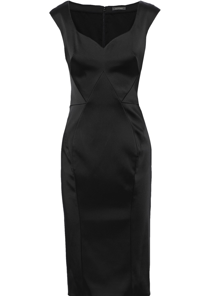 Zac Posen Woman Stretch-satin Dress Black