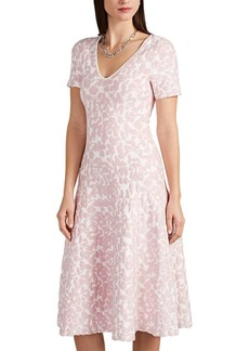 Zac Posen Women's Abstract-Pattern Jacquard Compact Knit Dress