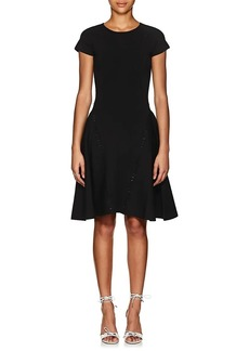 Zac Posen Women's Beaded Rib-Knit Fit & Flare Dress