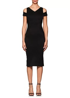 Zac Posen Women's Bonded Crepe Cold-Shoulder Cocktail Dress