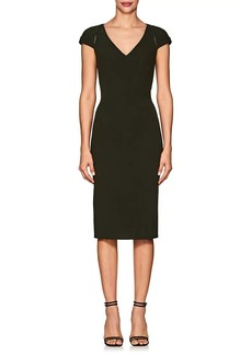 Zac Posen Women's Bonded Crepe Fitted Cocktail Dress