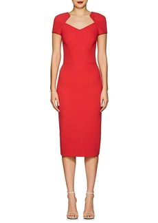 Zac Posen Women's Bonded Crepe Fitted Sheath Dress