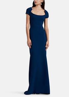 Zac Posen Women's Bonded Crepe Gown