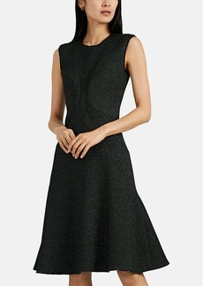 Zac Posen Women's Diamond-Pattern Jacquard Flared Dress