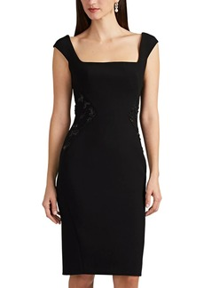 Zac Posen Women's Embellished Bonded Crepe Cocktail Dress