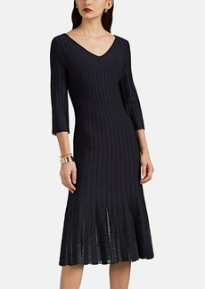 Zac Posen Women's Embellished Compact Rib-Knit Dress