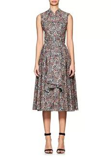 Zac Posen Women's Floral Cotton Poplin A-Line Shirtdress