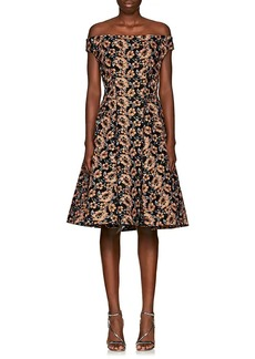Zac Posen Women's Floral-Embroidered Off-The-Shoulder Dress