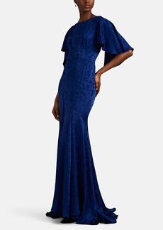Zac Posen Women's Floral-Jacquard Silk Mermaid Gown