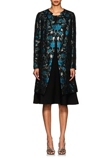 Zac Posen Women's Floral Mousseline Coat