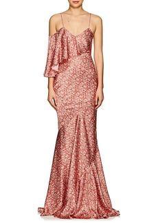 Zac Posen Women's Floral Silk Satin Gown