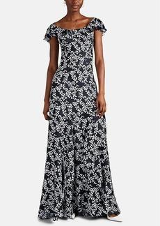 Zac Posen Women's Floral Silk Twill Gown