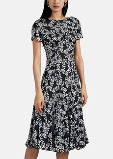 Zac Posen Women's Floral Silk Twill Midi-Dress