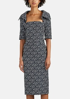 Zac Posen Women's Jacquard Fitted Sheath Dress