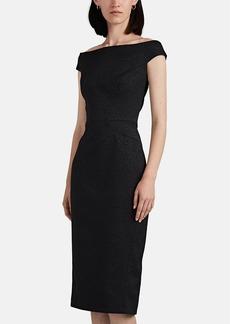 Zac Posen Women's Leopard-Pattern Jacquard Fitted Dress