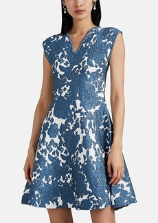 Zac Posen Women's Metallic Floral Jacquard Dress