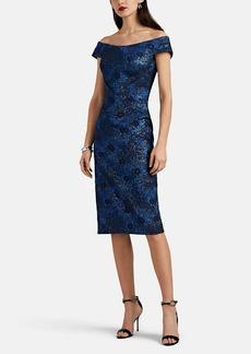 Zac Posen Women's Metallic Floral Jacquard Off-The-Shoulder Dress