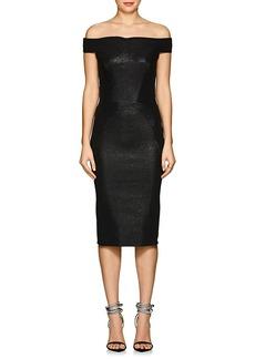 Zac Posen Women's Metallic Jacquard Off-The-Shoulder Midi-Dress