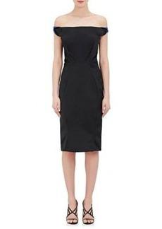 Zac Posen Women's Off-The-Shoulder Satin Dress