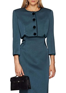 Zac Posen Women's Polished Crepe Crop Jacket