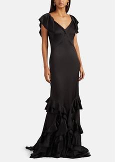 Zac Posen Women's Ruffle-Trimmed Crepe Gown