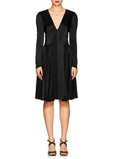 Zac Posen Women's Shadow Stripe Crepe A-Line Dress