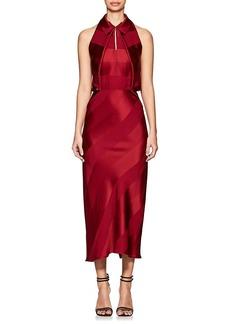 Zac Posen Women's Shadow-Striped Crepe Midi-Dress