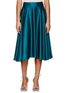 Zac Posen Women's Silk Satin Flared Midi-Skirt