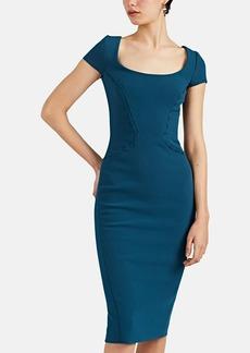 Zac Posen Women's Stitch-Detailed Crepe Sheath Dress