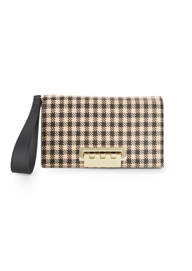 ZAC Zac Posen Eartha Checkered Leather Clutch