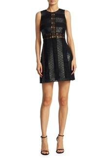 ZAC Zac Posen Leather Lace Dress