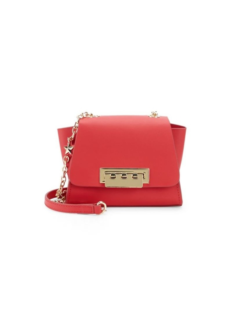 ZAC Zac Posen Eartha Star-Applique Mini Leather Crossbody Bag