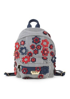 ZAC Zac Posen Stripe and Floral Backpack