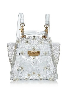 ZAC Zac Posen Eartha Floral Appliqu� Clear Convertible Backpack