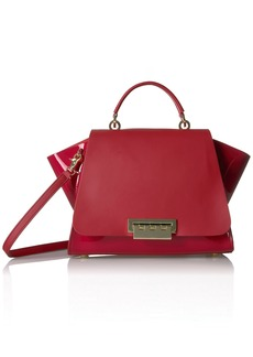 ZAC Zac Posen Eartha Iconic Soft Top Handle-Patent red
