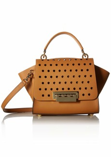 ZAC Zac Posen Eartha Top Handle Crossbody-Hex Floral Perforation CAMEL