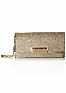 ZAC Zac Posen Earthette Flat Clutch Crossbody  Glitter