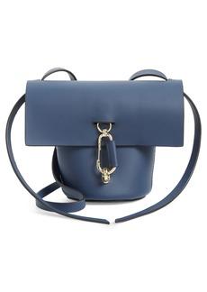 ZAC Zac Posen Mini Belay Calfskin Leather Crossbody Bucket Bag