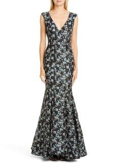 ZAC Zac Posen Pilar Floral Gown