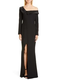 ZAC Zac Posen Susan One-Shoulder Long Sleeve Gown