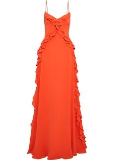 Zac Zac Posen Woman Ava Ruffle-trimmed Crepe Gown Orange