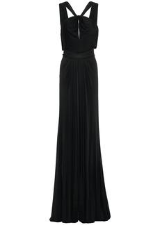 Zac Zac Posen Woman Cutout Draped Ponte Gown Black