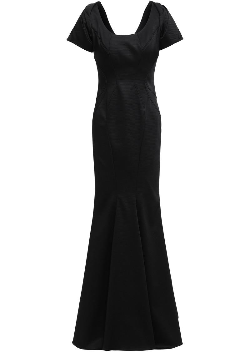 Zac Zac Posen Woman Fluted Faille Gown Black